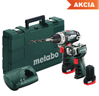 METABO Set PowerMaxx Bs Basic + ULA LED sada aku nářadí